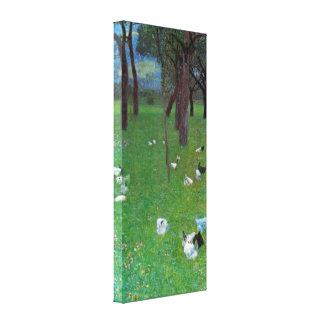 After the Rain, Garden with Chickens by Klimt Gallery Wrapped Canvas