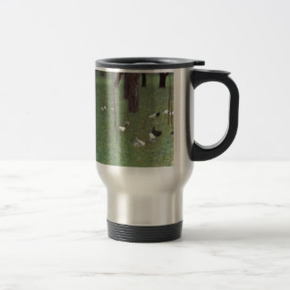 After the Rain (Garden with Chickens in St. Agatha Travel Mug
