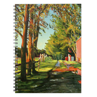 After The Rain Impressionistic Oil Landscape Paint Spiral Notebook