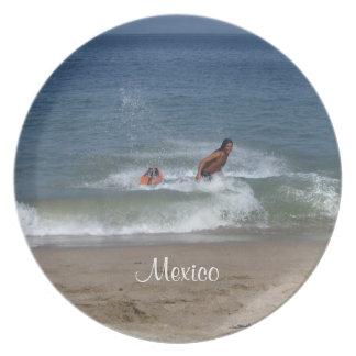After the Splash; Mexico Souvenir Plate