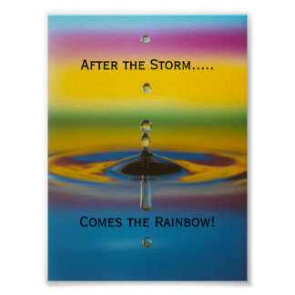 After the storm, comes a rainbow print