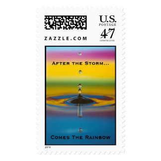 After the storm, comes a rainbow stamp