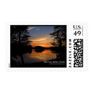 After The Sunset Postage Stamp