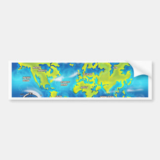 After the Thaw - Flooded Earth Bumper Sticker