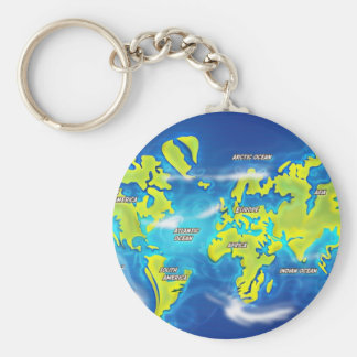 After the Thaw - Flooded Earth Keychain