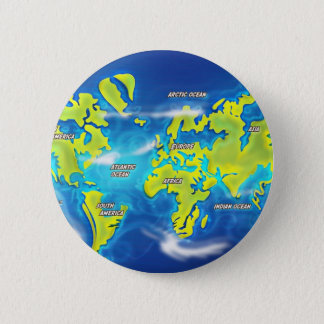 After the Thaw - Flooded Earth Pinback Button