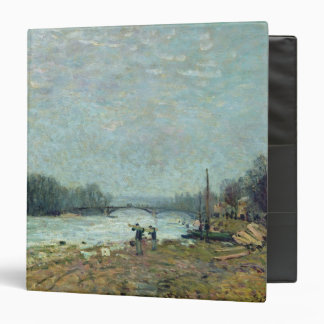 After the Thaw, the Seine at Suresnes Bridge 3 Ring Binder