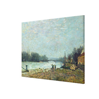 After the Thaw, the Seine at Suresnes Bridge Canvas Print