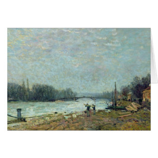 After the Thaw, the Seine at Suresnes Bridge Card