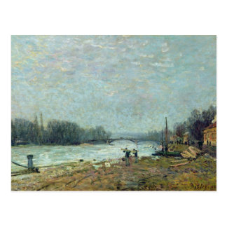 After the Thaw, the Seine at Suresnes Bridge Postcard