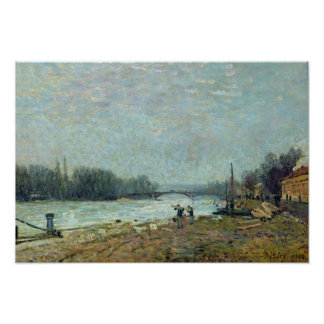 After the Thaw, the Seine at Suresnes Bridge Poster