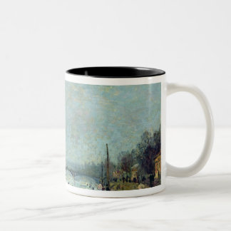 After the Thaw, the Seine at Suresnes Bridge Two-Tone Coffee Mug