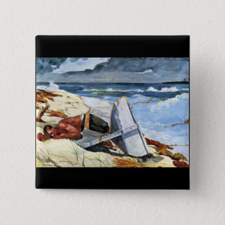 After the tornado by Winslow Homer Pinback Button