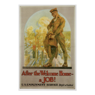 After the Welcome Home ~ a Job! Poster