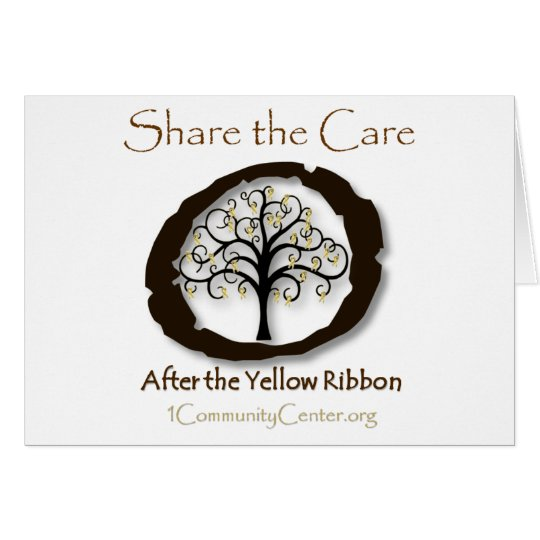 After the Yellow Ribbon-Support Combat Veterans Card