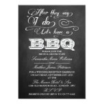 After They Say I Do, Let's Have A BBQ!- Chalkboard 5x7 Paper Invitation Card
