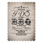 """AFTER THEY SAY I DO LETS HAVE A BBQ INVITE 5"""" X 7"""" INVITATION CARD"""