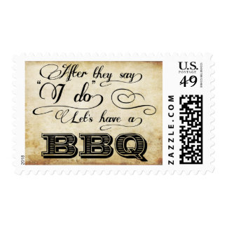 After They Say I Do Lets Have A BBQ! - Vintage Postage Stamps