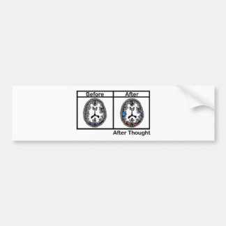 After Thought Car Bumper Sticker