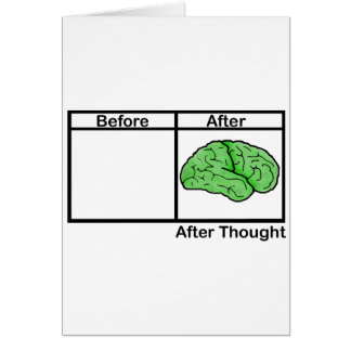 After Thought Greeting Card