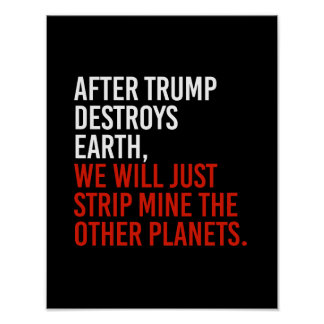 AFTER TRUMP DESTROYS EARTH, WE WILL JUST STRIP MIN POSTER