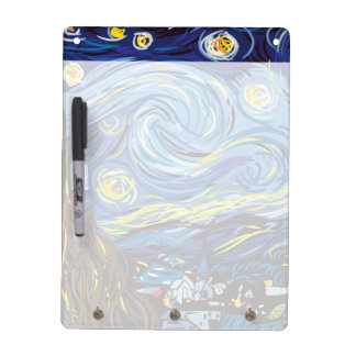 After Van Gogh Starry Night Post Impressionism Dry Erase Board
