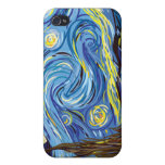 After Van Gogh Starry Night Post Impressionism Covers For iPhone 4