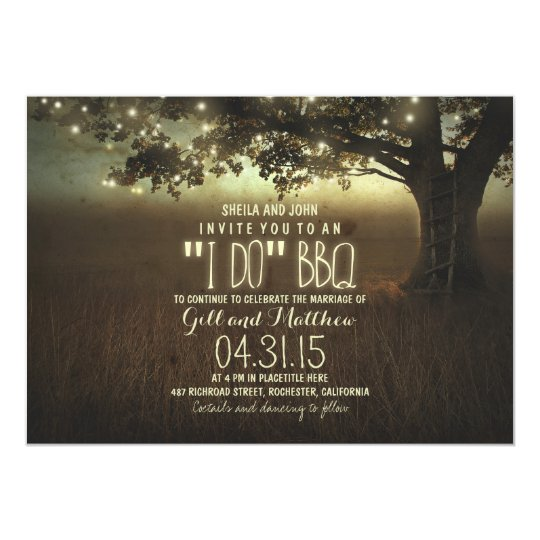 Invitation For Reception After The Wedding: After Wedding I Do Bbq Invitation