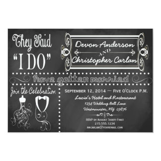 After Wedding Trendy Chalkboard Invitation