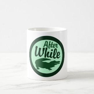 After while crocodile classic white coffee mug
