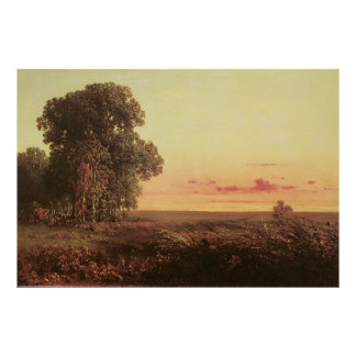 Afterglow on the Prairie, by George Inness Poster