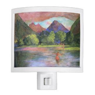 'Afterglow, Tautira River, Tahiti' - John LaFarge Night Light