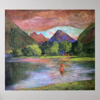 'Afterglow, Tautira River, Tahiti' - John LaFarge Poster