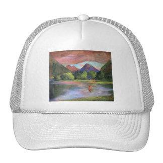 'Afterglow, Tautira River, Tahiti' - John LaFarge Trucker Hat