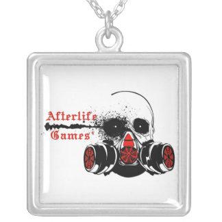 Afterlife Games Logo Square Pendant Necklace