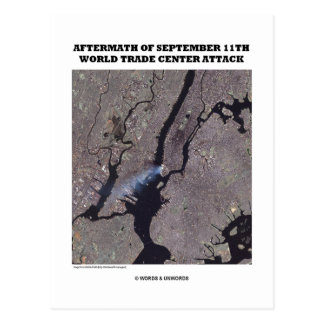 Aftermath Of September 11th World Trade Center Postcard