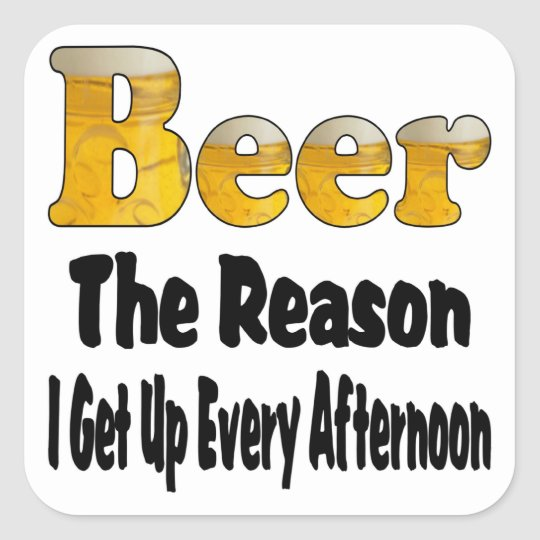 Afternoon Beer Square Sticker