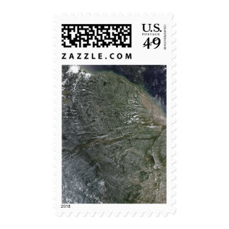 Afternoon clouds over the Amazon Basin Postage Stamp