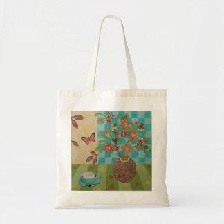 Afternoon Coffee Floral Tote Tote Bags