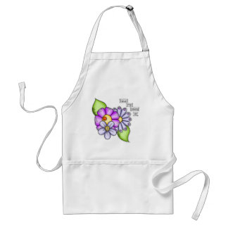Afternoon Delight Positive Thought Doodle Flower Adult Apron