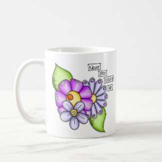 Afternoon Delight Positive Thought Doodle Flower Coffee Mug