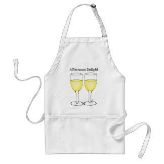 AFTERNOON DELIGHT WHITE WINE PAIR PRINT ADULT APRON
