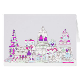 Afternoon High Tea Party Patisserie Card