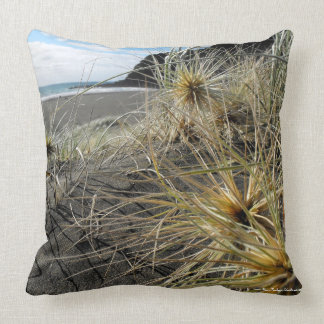 Afternoon Impression Of Karekare Beach Throw Pillow