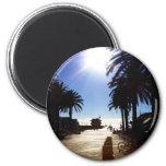 Afternoon In Hermosa Beach 2 Inch Round Magnet