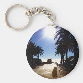 Afternoon In Hermosa Beach Basic Round Button Keychain