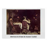 Afternoon In Ornans By Gustave Courbet Poster