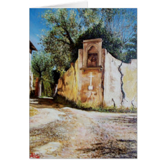 AFTERNOON IN RIMAGGIO / Tuscany View Card