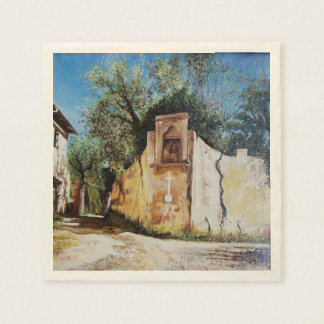 AFTERNOON IN RIMAGGIO / Tuscany View Napkin