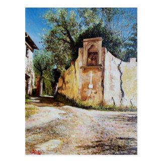 AFTERNOON IN RIMAGGIO / Tuscany View Postcard